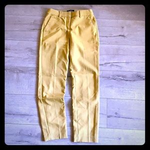Express mustard stretch pants